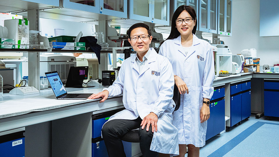 Image Caption- Professor Lim Chwee Teck (left) and Dr Lim Su Bin (right) have developed a novel personalised tool