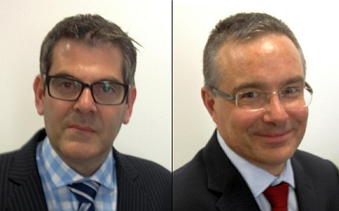 Corporate banker, Mr Daniel Sharp (L), and senior analyst, Dr Matthijs Smith, of Canaccord Genuity, Australia