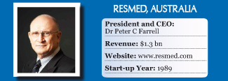 ResMed President & CEO Peter C Farrell